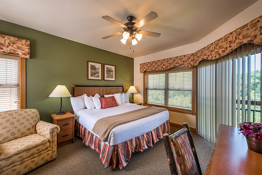 Westgate Branson Woods Bedroom with Balcony