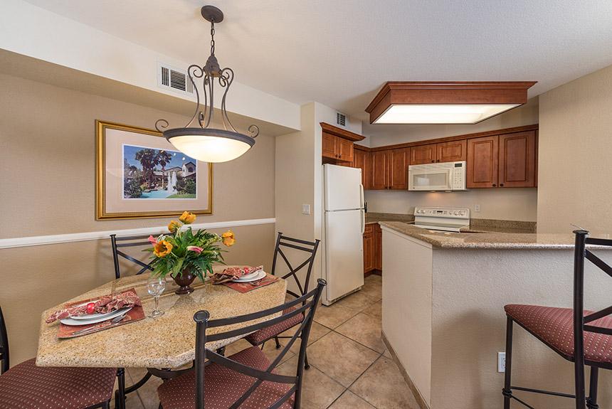 Westgate Flamingo Bay Resort Kitchen and Living Room