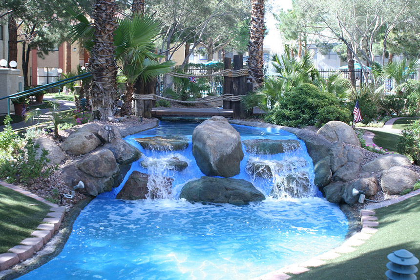 Westgate Flamingo Bay Resort Waterfall
