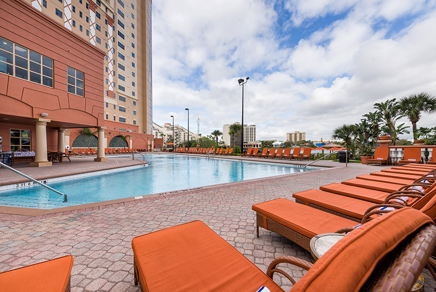 The beautifully decorated Two-Bedroom Villa at Westgate Palace Resort features remarkable spaciousness, creating the ideal backdrop for your Orlando vacation getaway.