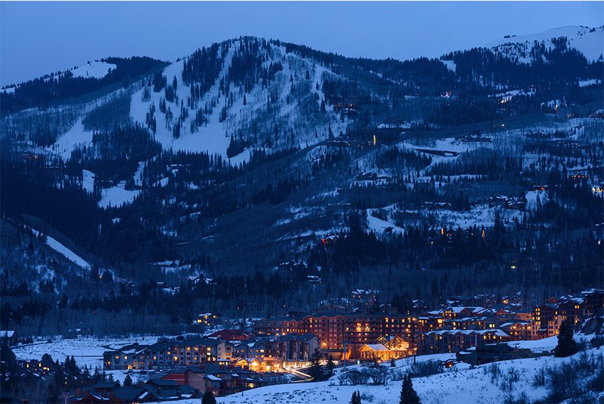 Westgate Park City Resort Mountain View at Night