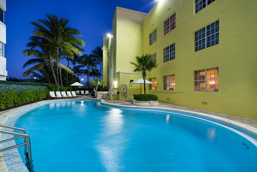 Westgate South Beach Pool at Night