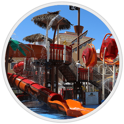 Blackbeard waterpark ship