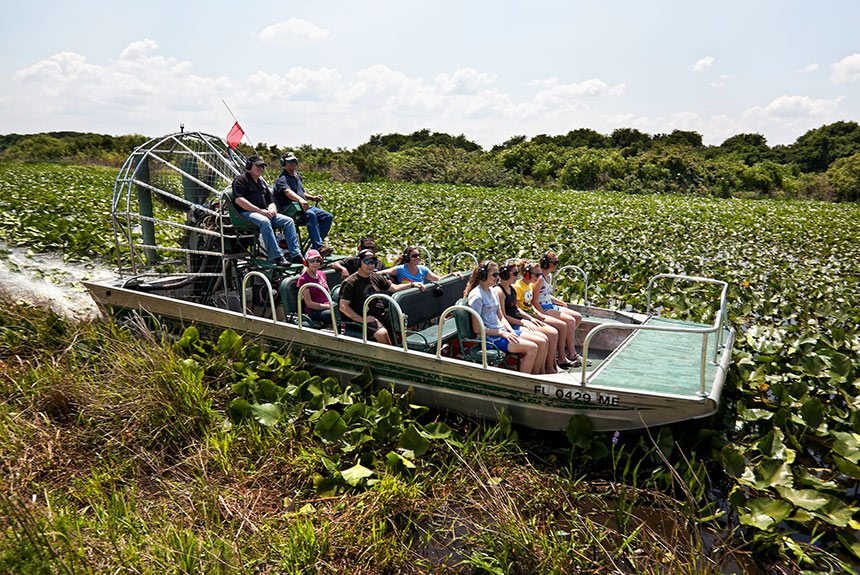 Airboat Rides in Westgate River Ranch