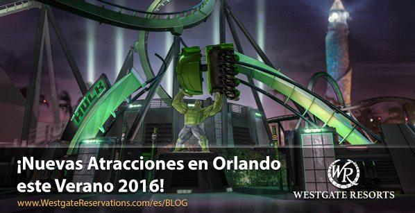 ¡Nuevas Atracciones en Orlando este Verano 2016!
