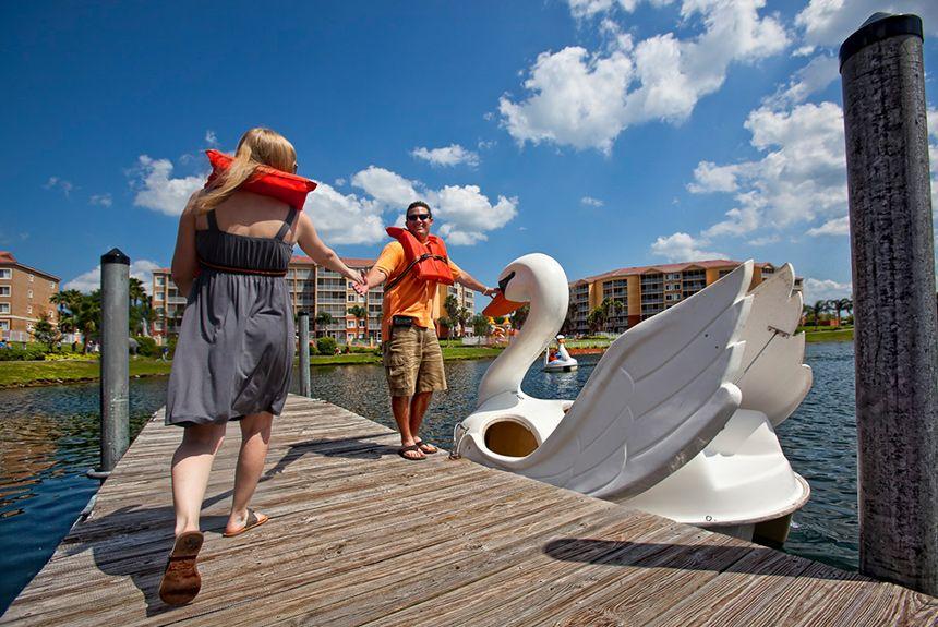 resort marina swan boats
