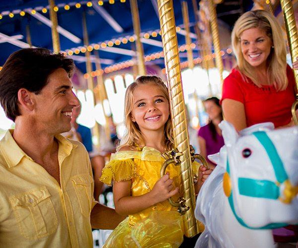 riding a Mary goround at Disney