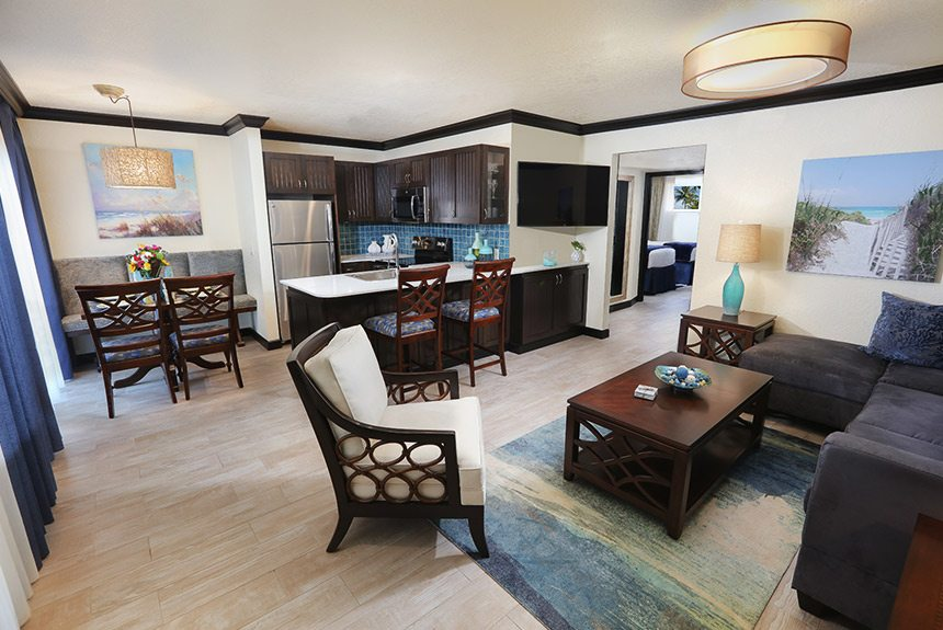 Wakulla Suites Living room and Kitchen
