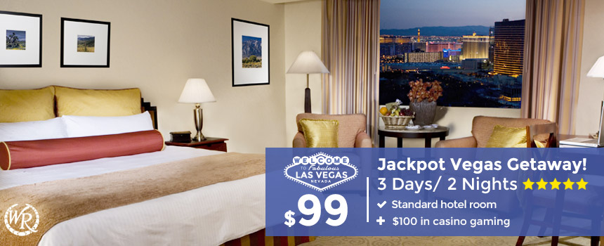 3-Day Las Vegas Getaway includes $100 in Gaming | From Only $99