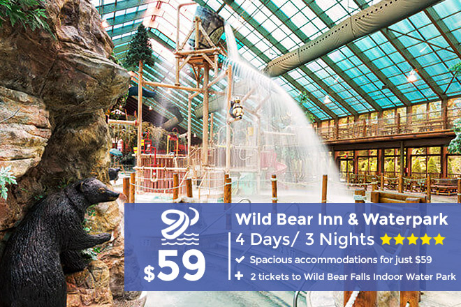 3 nights at Pigeon Forge, TN with indoor water park tickets