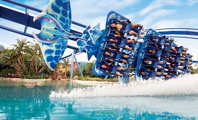 SeaWorld Roller Coaster in Orlando, FL