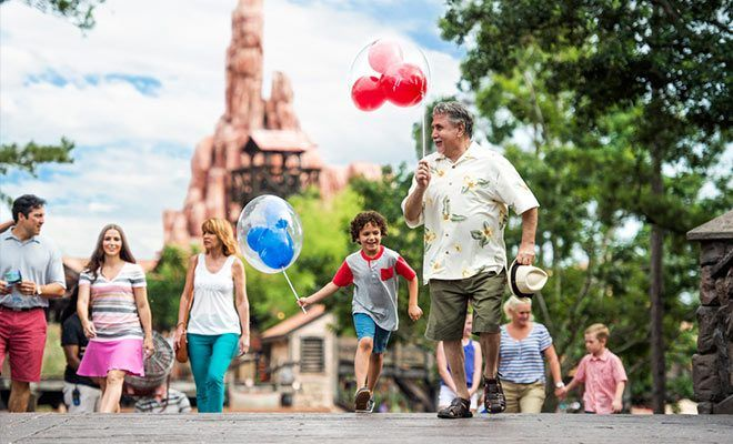 Granda and Grandson vacationing in Orlando | Magic Kingdom Orlando Vacations