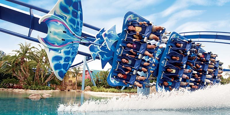 Seaworld Vacation Packages | Manta flrying Roller Coaster at SeaWorld