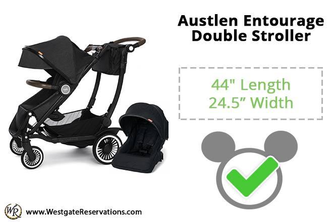 Austlen Entourage Double Stroller