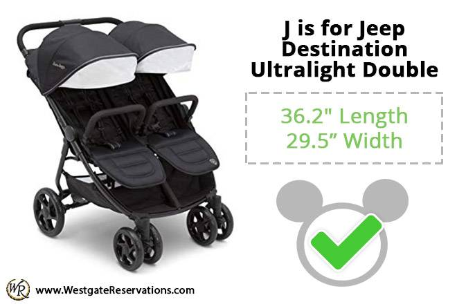 J is for Jeep Destination Ultralight Double