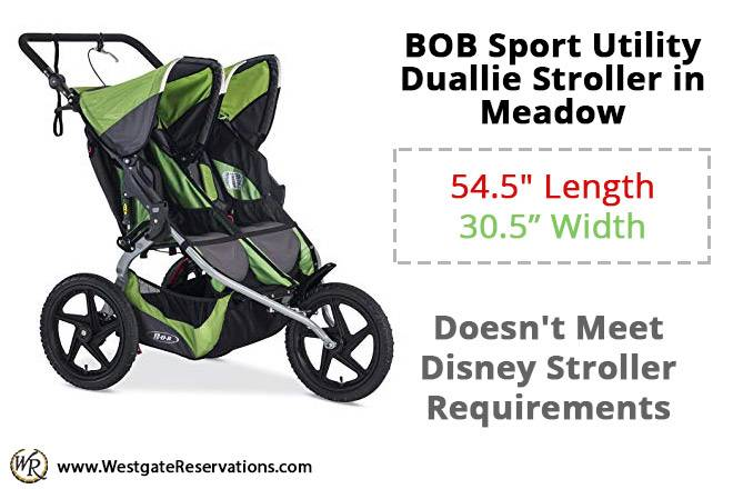 BOB Sport Utility Duallie Stroller in Meadow