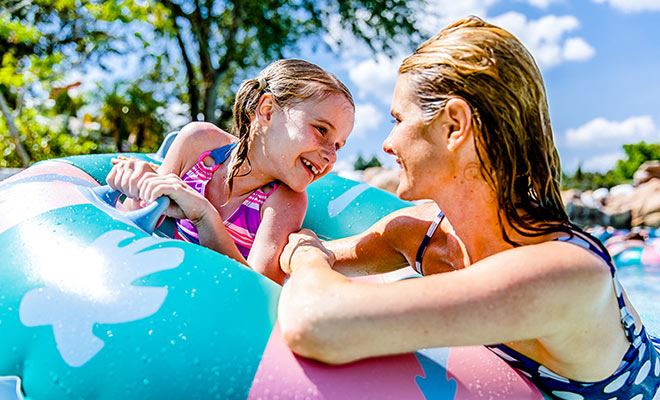 Mother and daughter at Orlando Waterpark