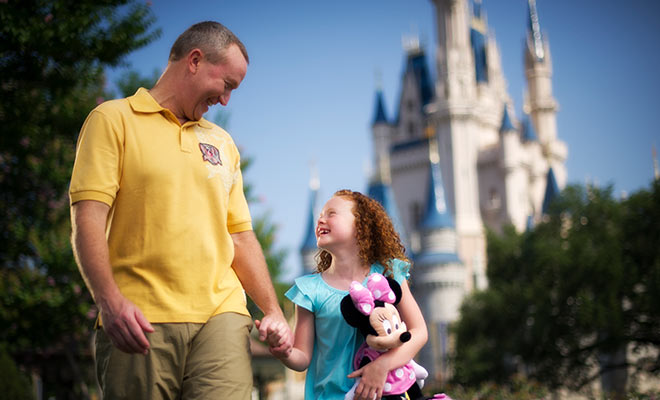 Father and Daughter at Disney