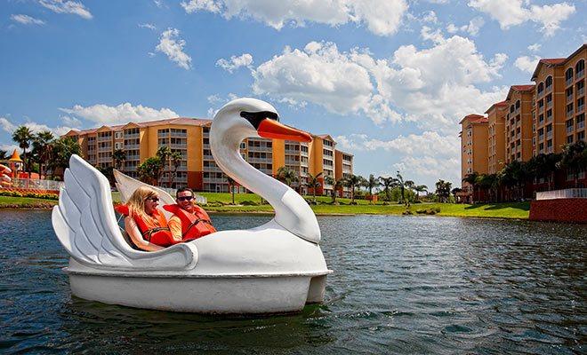 Swan Boats at Westgate Lakes