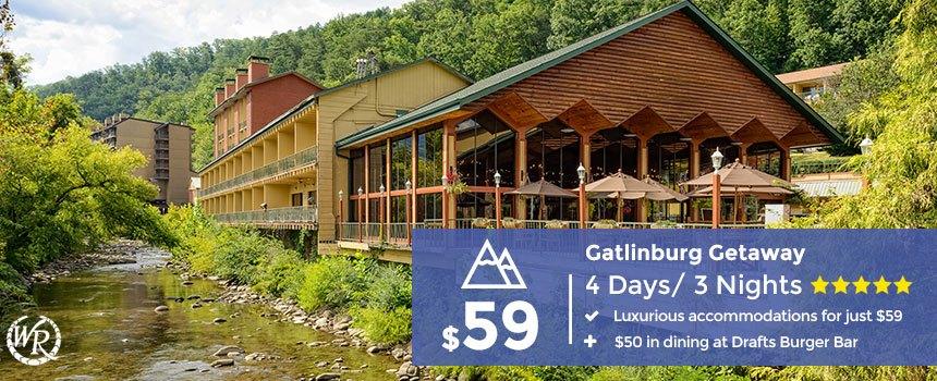 3-Night Gatlinburg, TN Vacation plus $50 in Dining | From $59