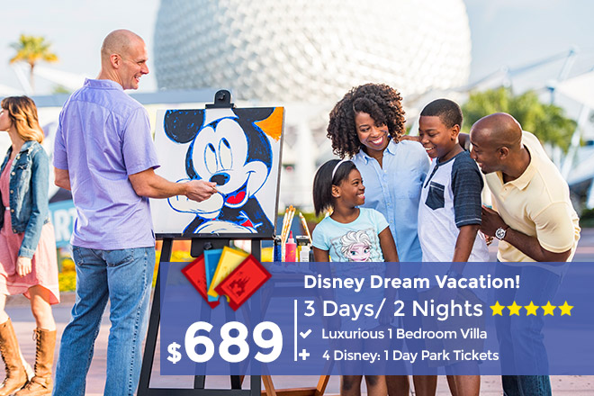 3 Day Disney Package Plus 4 Disney World Tickets Of Your