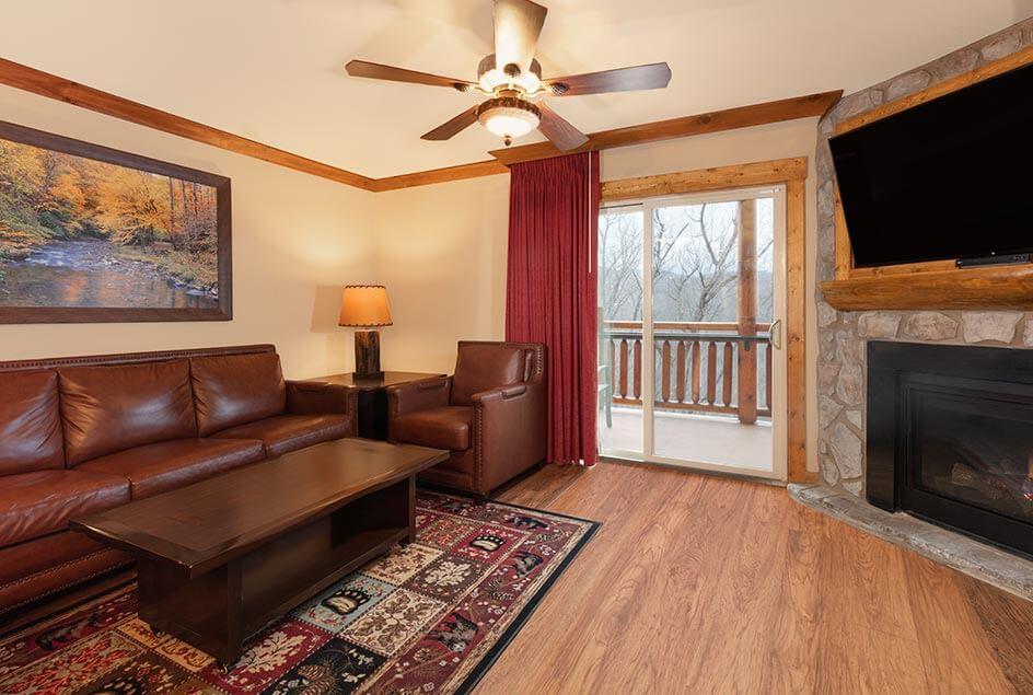 Living Room - Three Bedroom Villa at Westgate Smoky Mountain Resort