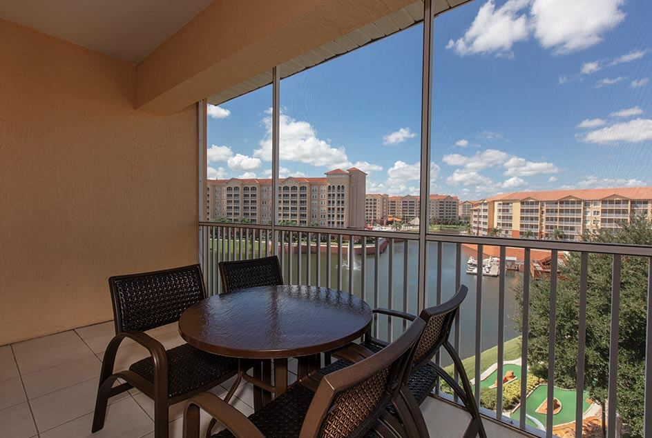 Private Patio - Three Bedroom Villa at Westgate Town Center Resort