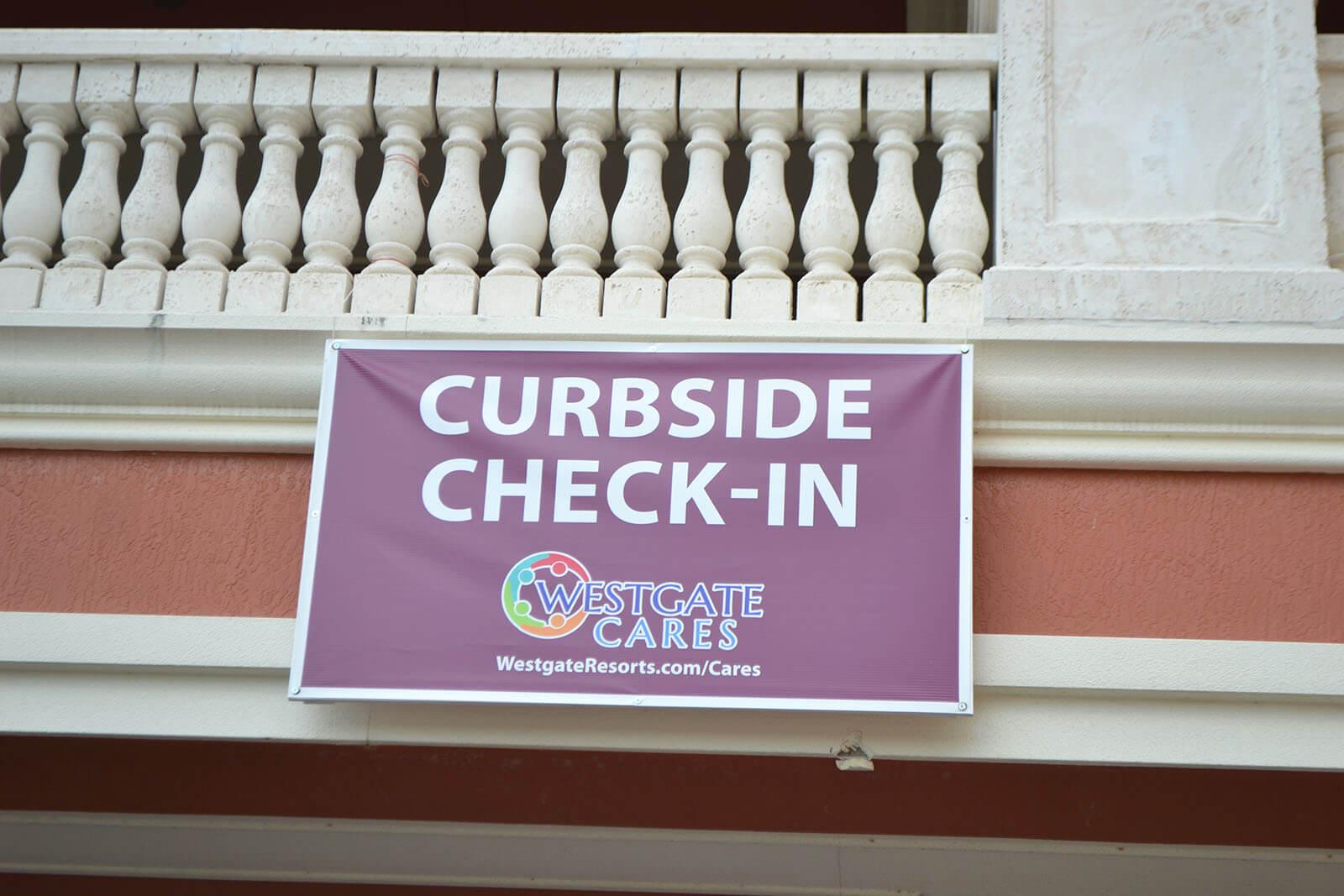 Curbside Checkin At Westgate Town Center Resort in Orlando, FL