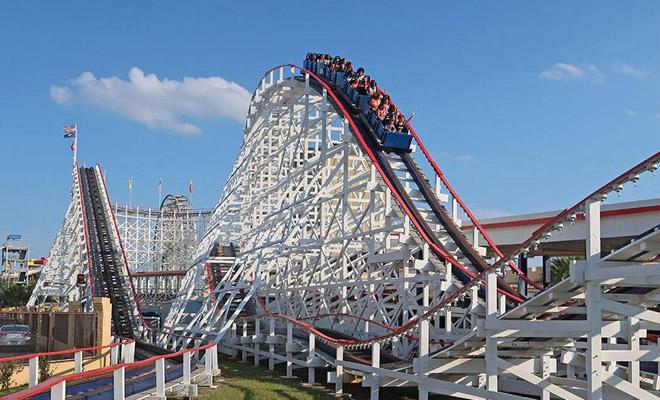 Roller Coaster at Myrtle Beach amusement park