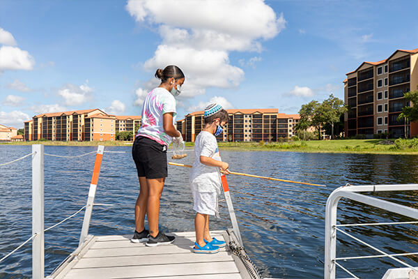 Fishing at Westgate Lakes Resort