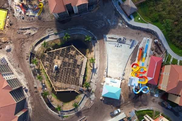Treasure Cove Water Park Wave Pool Construction